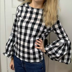 Anthropologie Sunday in Brooklyn Gingham Top